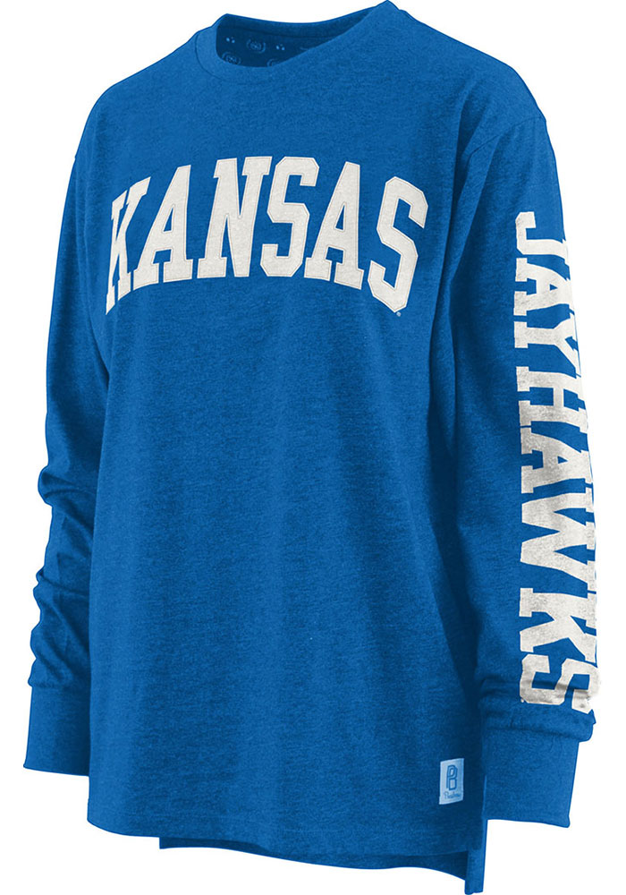 Kansas Jayhawks Womens Canyon Blue LS Tee