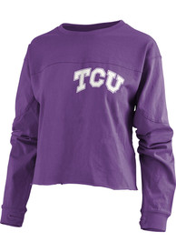 TCU Horned Frogs Womens Fight Song Purple LS Tee