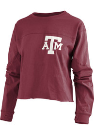 Texas A&M Aggies Womens Fight Song Maroon LS Tee