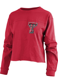 Texas Tech Red Raiders Womens Fight Song Red LS Tee