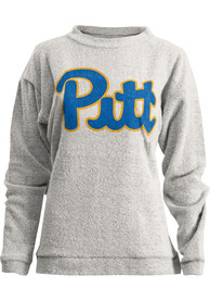 Pitt Panthers Womens Julie Crew Sweatshirt - Oatmeal