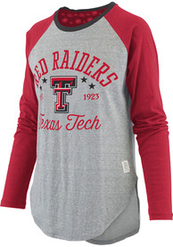 Texas Tech Red Raiders Womens Quincy Grey LS Tee