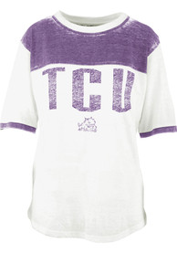 TCU Horned Frogs Womens Southhaven T-Shirt - White