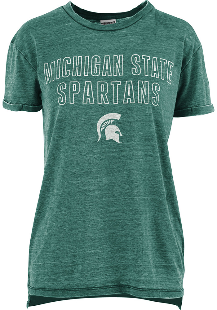 Michigan State Spartans Womens Vintage T-Shirt - Green