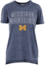 Michigan Wolverines Womens Vintage T-Shirt - Navy Blue
