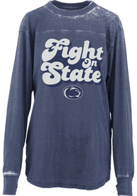 Penn State Nittany Lions Womens Vintage Navy Blue LS Tee