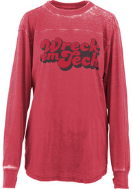 Texas Tech Red Raiders Womens Vintage Red LS Tee