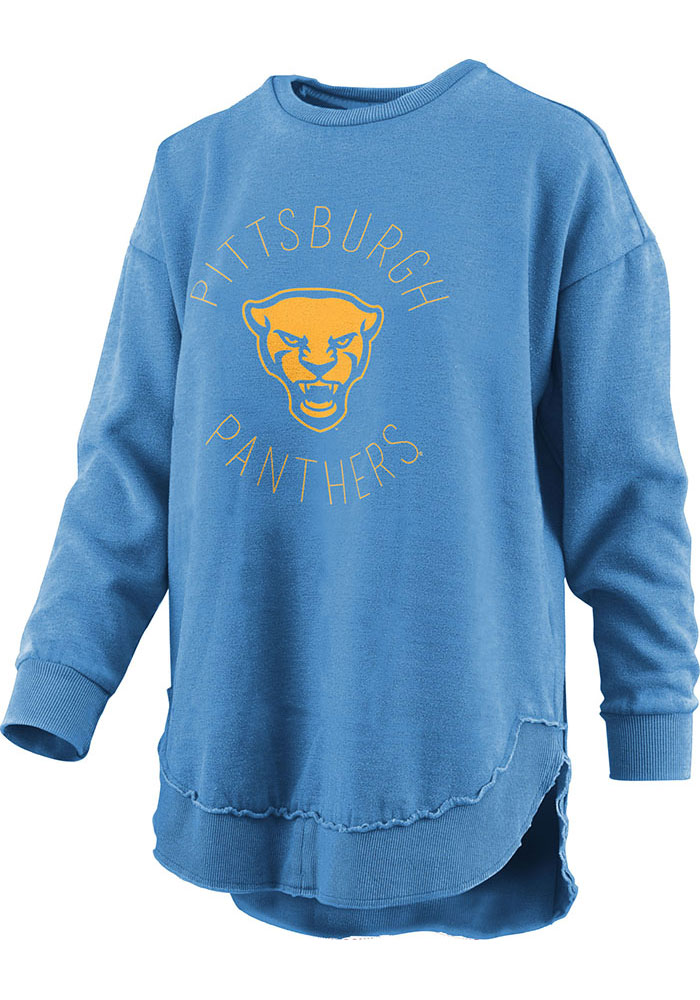 Pitt Panthers Womens Blue Bakersfield Crew Sweatshirt - Image 1
