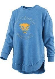 Pitt Panthers Womens Bakersfield Crew Sweatshirt - Blue
