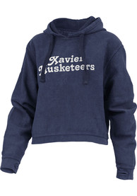 Xavier Musketeers Womens California Dreaming Hooded Sweatshirt - Navy Blue