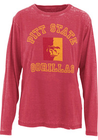 Pitt State Gorillas Womens Selena T-Shirt - Red