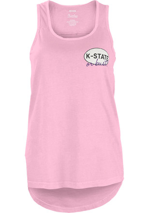 K-State Wildcats Juniors Pink Bug Out Tank Top