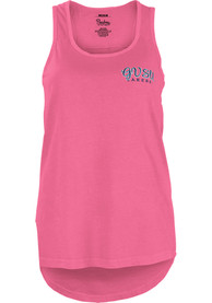 Grand Valley State Lakers Juniors Pink Circle Paisley Frame Tank Top