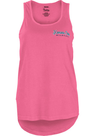 K-State Wildcats Womens Pink Circle Paisley Frame Tank Top