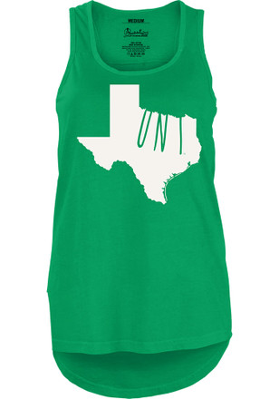 North Texas Mean Green Womens Green Crafty State Tank Top