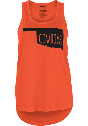 Oklahoma State Cowboys Womens Orange Crafty State Tank Top