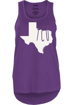TCU Horned Frogs Womens Purple Crafty State Tank Top