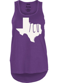 TCU Horned Frogs Juniors Purple Crafty State Tank Top