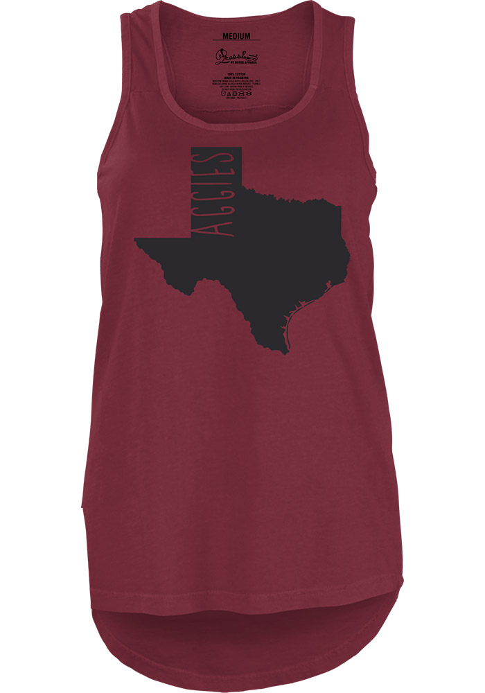 Texas A&M Aggies Juniors Maroon Crafty State Tank Top - Image 1