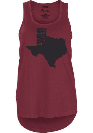Texas A&M Aggies Womens Maroon Crafty State Tank Top