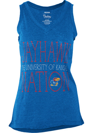 Kansas Jayhawks Womens Blue Prestiege Tank Top