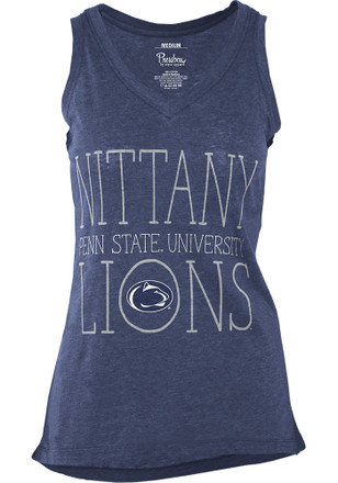 Penn State Nittany Lions Womens Navy Blue Prestiege Tank Top