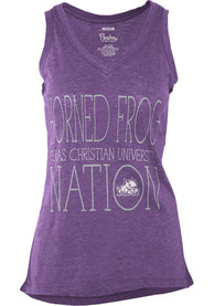 TCU Horned Frogs Womens Purple Prestiege Tank Top