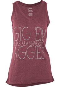 Texas A&M Aggies Womens Maroon Prestiege Tank Top