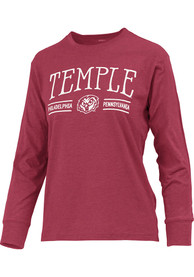 Temple Owls Womens Cyrus T-Shirt - Red