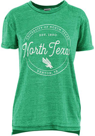 North Texas Mean Green Womens Ella Seal T-Shirt - Green