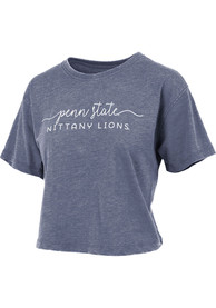 Penn State Nittany Lions Womens Vintage Crop T-Shirt - Navy Blue