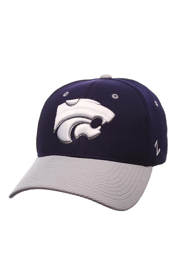 Zephyr K-State Wildcats Mens Purple Reverse Athlete Flex Hat - Image 1