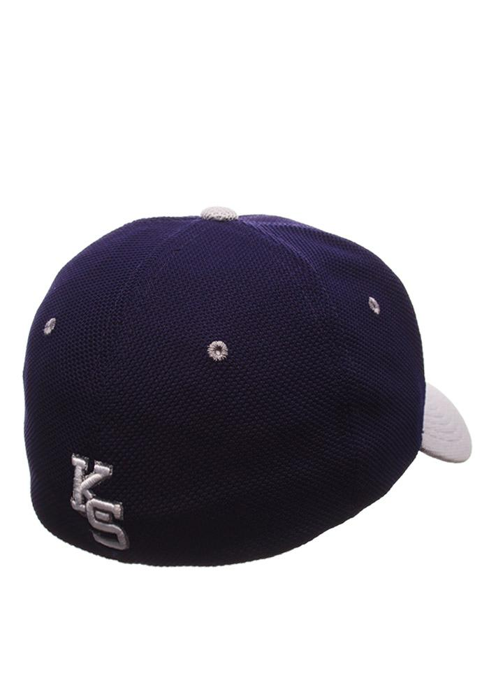 Zephyr K-State Wildcats Mens Purple Reverse Athlete Flex Hat - Image 2