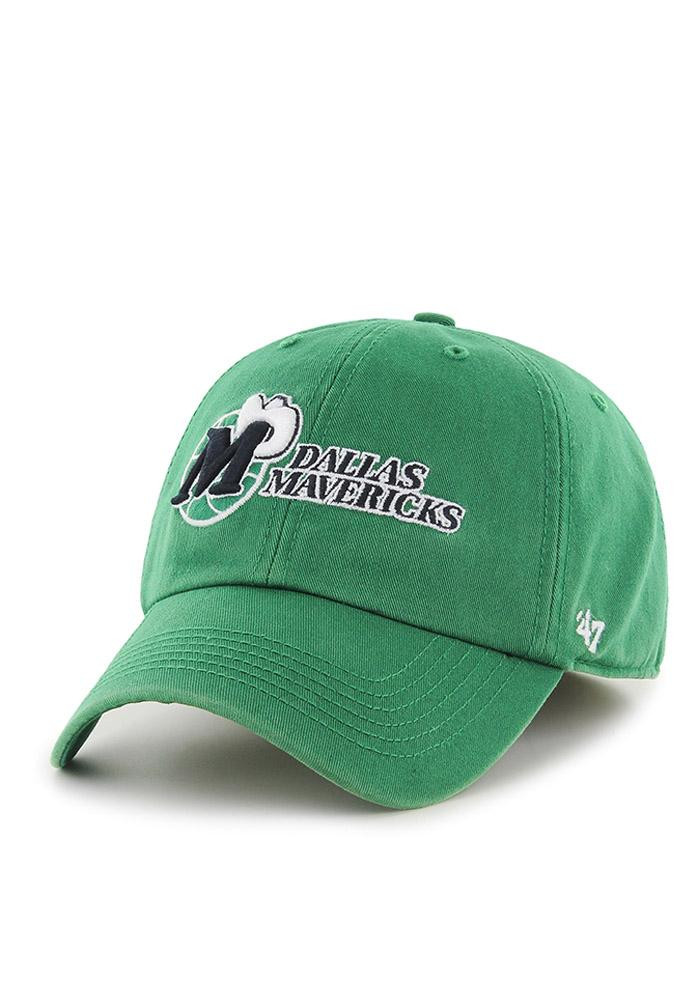 '47 Dallas Mavericks Mens Green Retro `47 Franchise Fitted Hat - Image 2