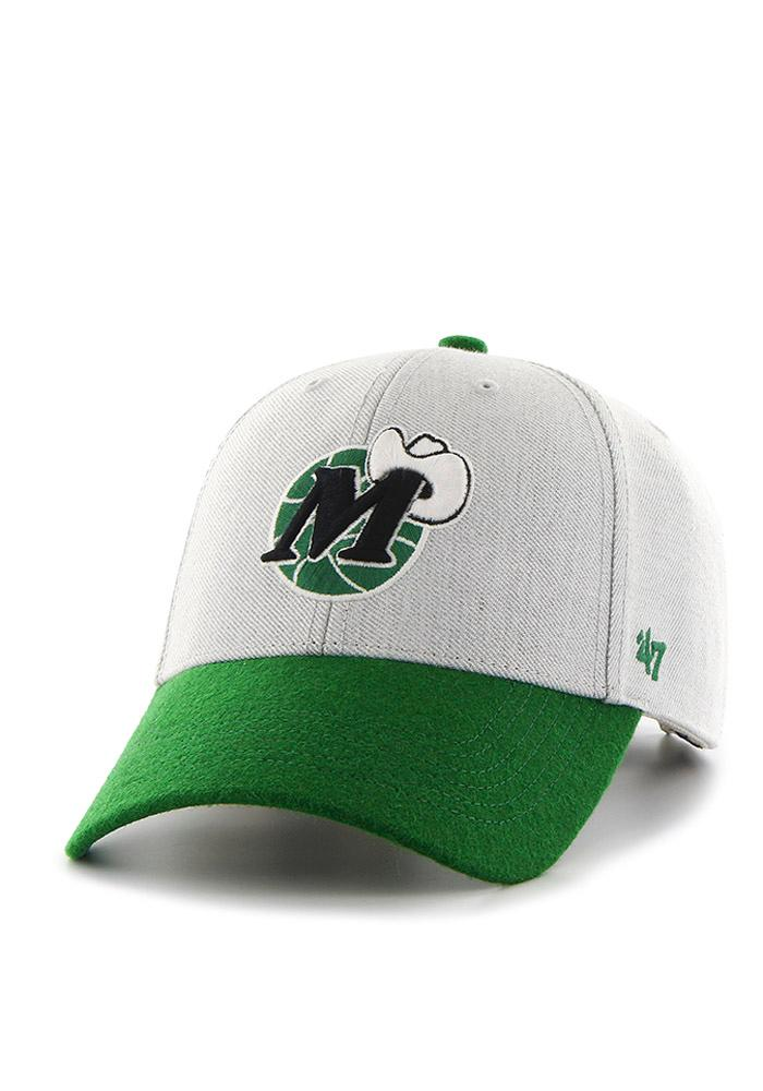 '47 Dallas Mavericks Mens Grey Munson Adjustable Hat - Image 1