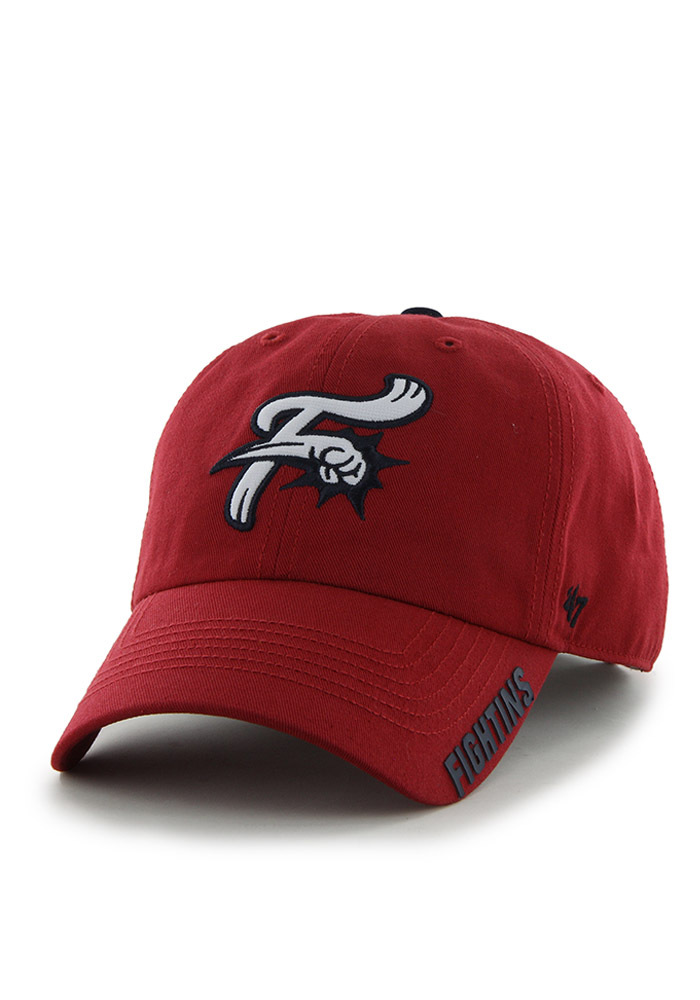 Reading Fightin Phils 47 Clean Up Adjustable Hat - Red