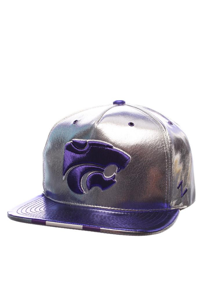 Zephyr K-State Wildcats Grey Gridiron Project Mens Snapback Hat - Image 1