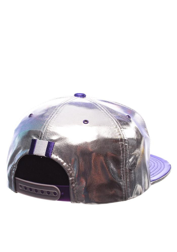 Zephyr K-State Wildcats Grey Gridiron Project Mens Snapback Hat - Image 2