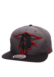 Zephyr TTech Red Raiders grey/black Gridiron Project Snapback Hat