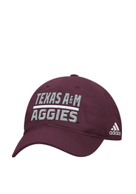 Texas A&M Aggies Adidas Sideline Slouch Adjustable Hat - Maroon