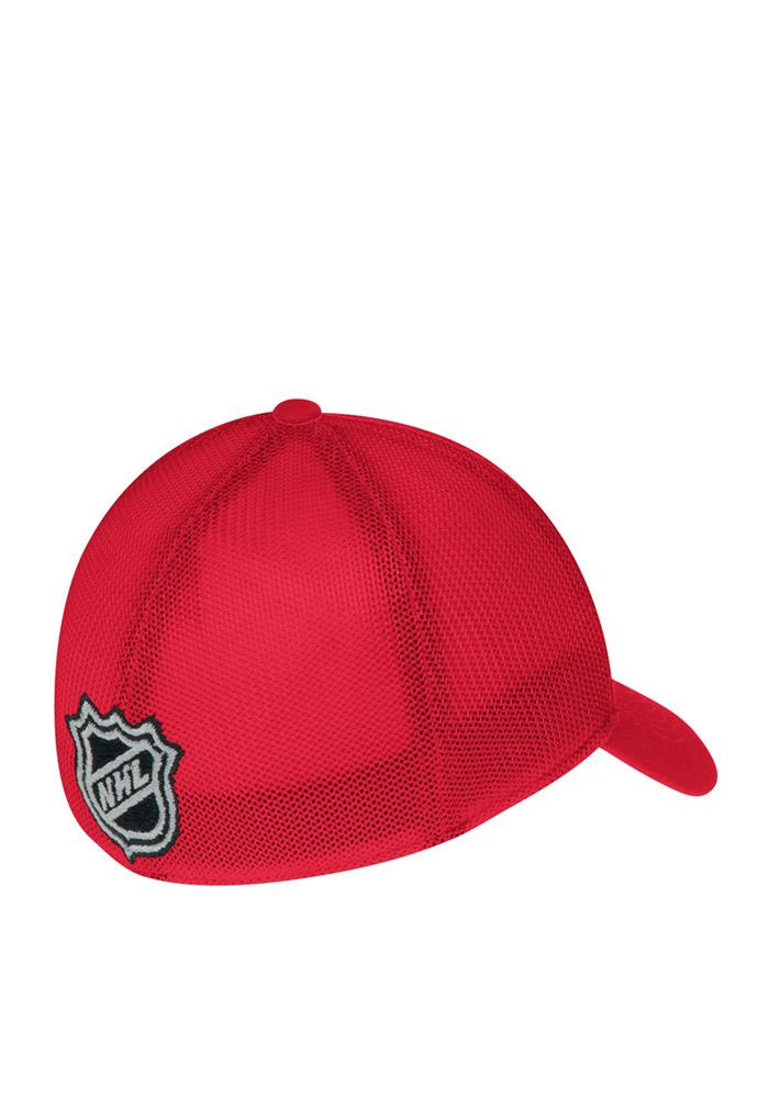 Reebok Detroit Red Wings Mens Red Center Ice Player Flex Hat - Image 3