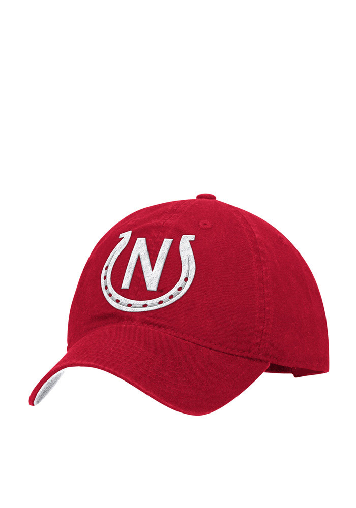 Adidas Nebraska Cornhuskers Mens Red Localized Slouch Adjustable Hat - Image 1