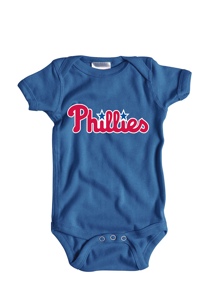 newest 19ab5 a8b49 Philadelphia Phillies Baby Blue Wordmark Short Sleeve One ...
