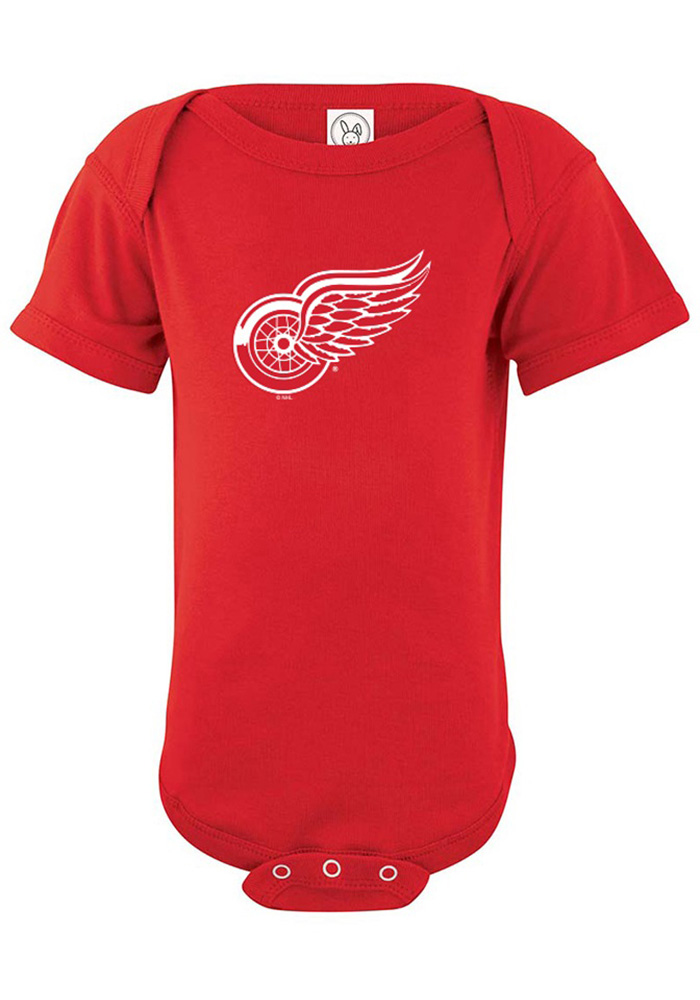 Detroit Red Wings Baby Red Logo Short Sleeve One Piece - Image 1