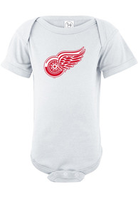 Detroit Red Wings Baby White Logo One Piece