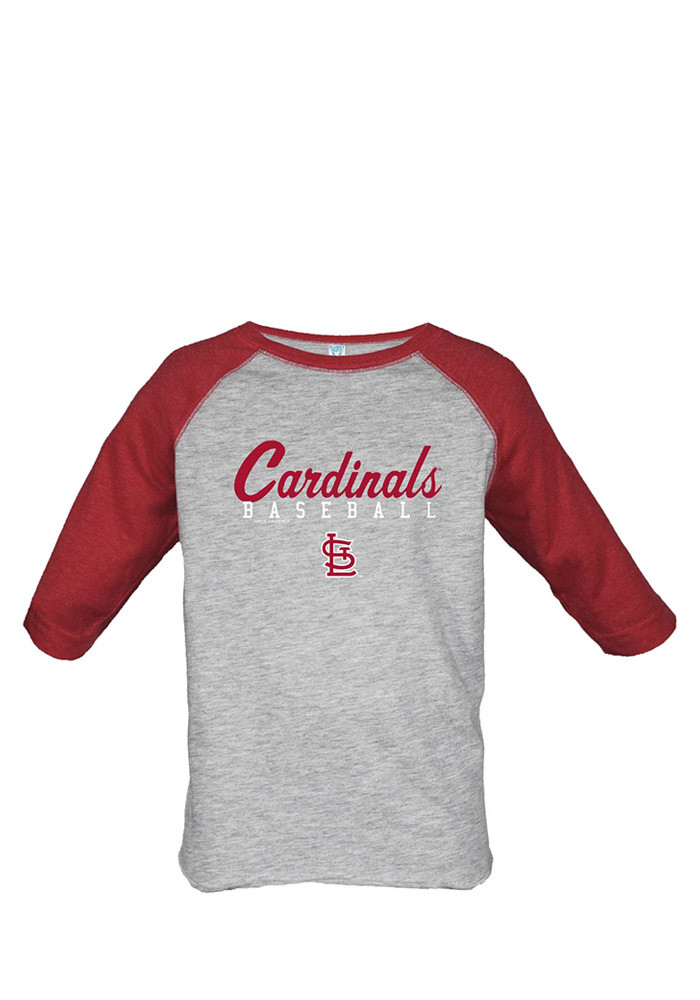 St Louis Cardinals Toddler Red Simple Script Long Sleeve T-Shirt - Image 1