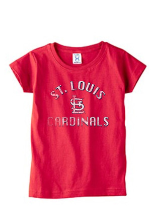 St Louis Cardinals Toddler Girls Red Arch Shadow T-Shirt