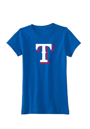 Texas Rangers Girls Blue Logo T-Shirt
