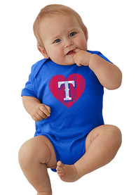 Texas Rangers Baby Blue Heart One Piece