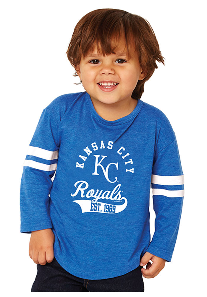 Kansas City Royals Toddler Blue Striped Sleeve Long Sleeve T-Shirt - Image 1